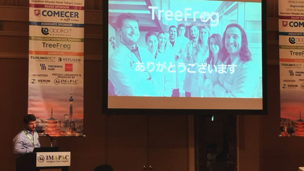 TreeFrog Therapeutics was Japan from the 10th to 21th of September 2019 to meet key academic and industry players. Notably, our team gave a presentation at the mecca of iPS : the Center for iPS Cell Research and Application (CiRA), Kyoto University. And on September 18th, Maxime Feyeux, our CSO, gave an oral presentation about C-Stem™ at the IMAPAC Cell Therapy World Asia conference in Tokyo ! We are very grateful for the help of Business France in organizing this roadshow !