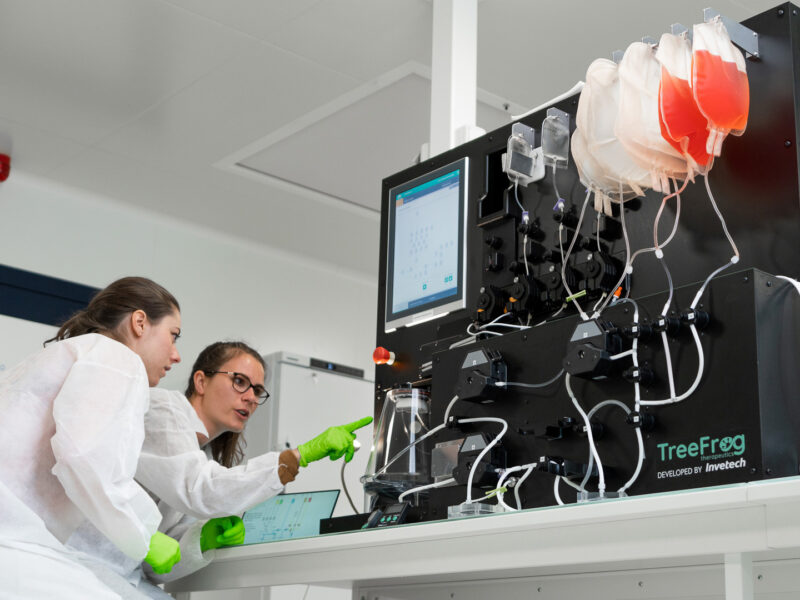 TreeFrog-Therapeutics-Invetech-scale-up-cell-therapy-manufacturing-encapsulation-bioreactor