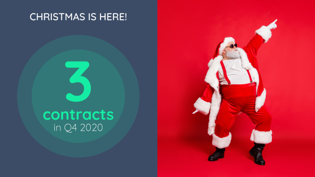 Christmas is here: our first 3 contracts signed in Q4 2020 !