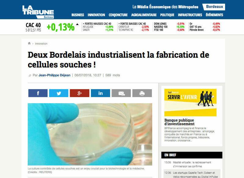 la-tribune-societe-startup-cellules-souches-producteur-france-treefrog-therapeutics